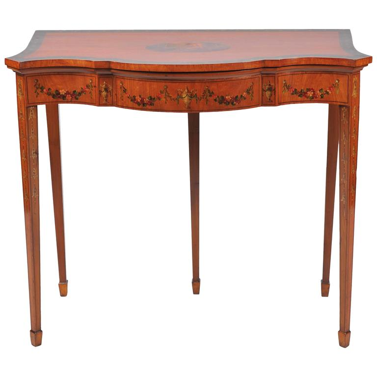 19th Century Satinwood Card Table