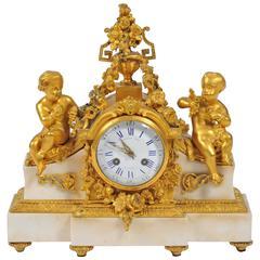 Antique Louis XVI Style Mantel Clock, Raingo Frères, Paris