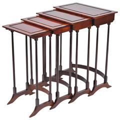Nest of Four Antique Side Tables