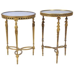 Near Pair of C19th Louis XVI Style Tables, in the manner of Weisweiller.
