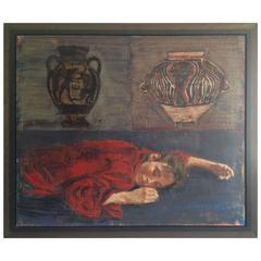 ''Deux Amphores'' Encaustic Painting by Jacques Payette