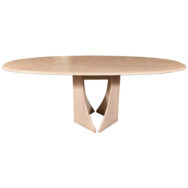 French Travertine Table 1