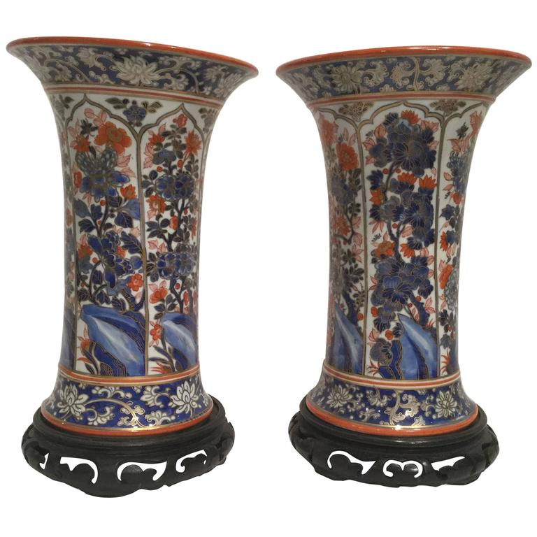 Pair of 18th Century Clobbered Kang Hsi Vases