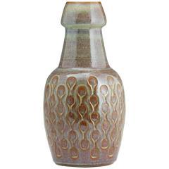 Fine Big Danish Modern Artisan Designed Vase, Svend Aage Jensen Master in Glazes