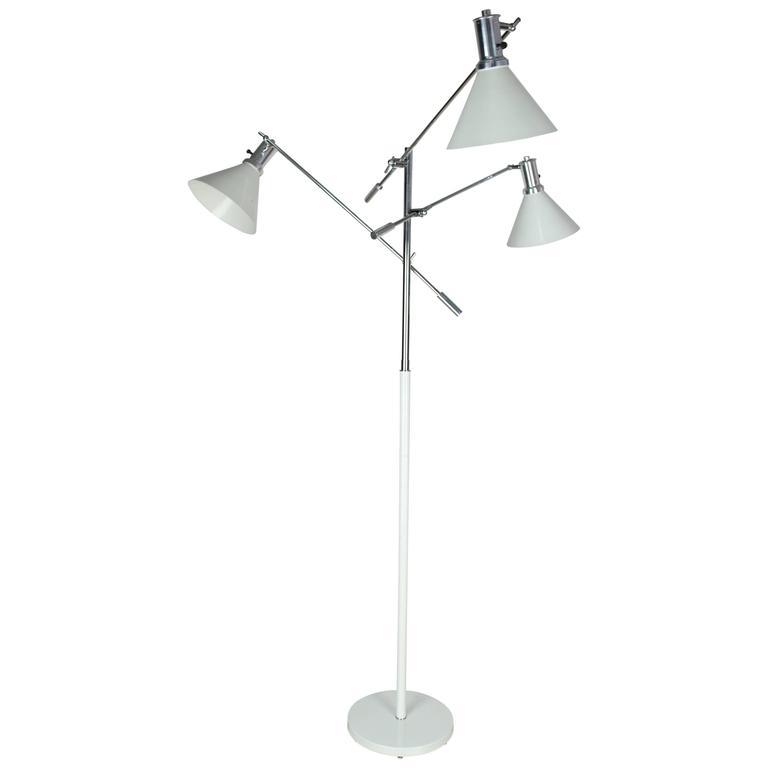 Arredoluce Style Italian Vintage Fully Adjustable Floor Lamp