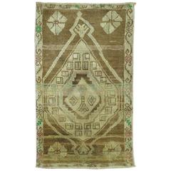 Vintage Anatolian Mat Size Rug
