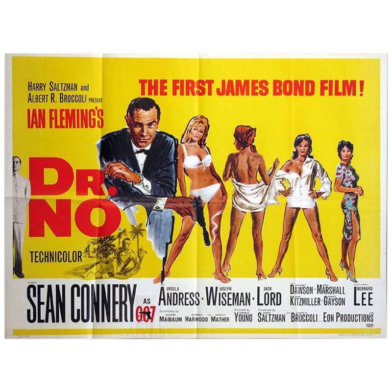 """Dr. No"" Film Poster, 1962"