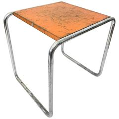 Very Rare Orange B9 Table, Marcel Breuer Thonet Bauhaus