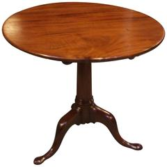 18th Century Antique Mahogany Tilt-Top Table