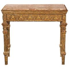 Early 19th Century Neoclassical Giltwood Console