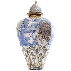 Contemporary Obama and Me Porcelain Urn