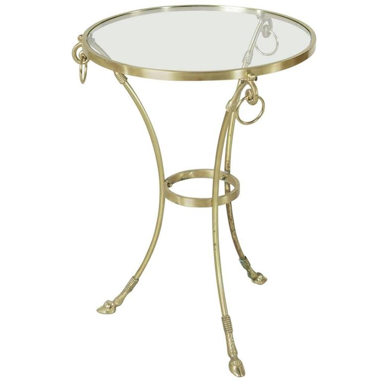 Mid-20th Century Maison Charles Bronze Gueridon or Side Table with Glass Top 1
