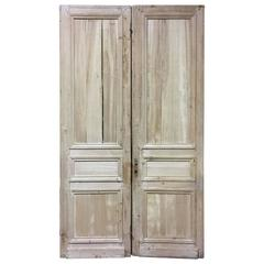 Pair of Early 19th Century French Apple and Pine Doors