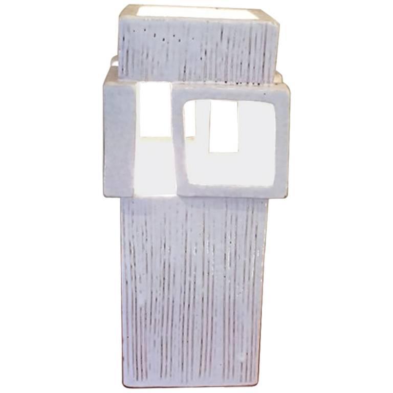 White Ceramic Lamp For Sale