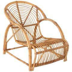 Danish Rattan Easy Chair by Elvin Geertsen