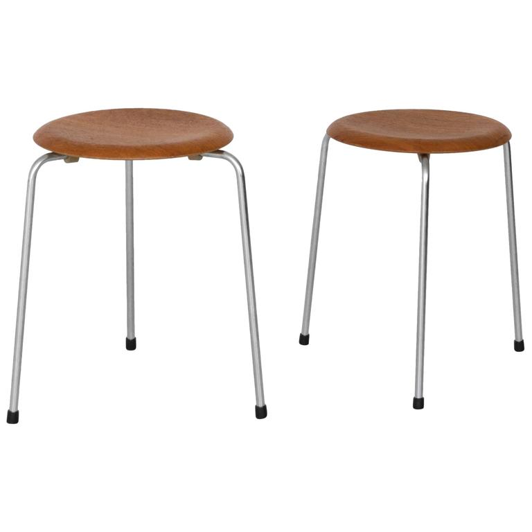 Arne Jacobsen Stools for Fritz Hansen