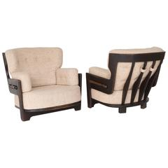 Guillerme & Chambron for Votre Maison Lounge Chair, Pair