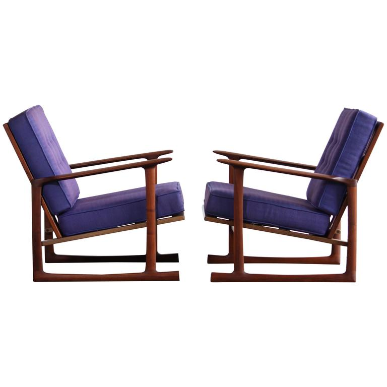 Lounge Chairs by Ib Kofod Larsen for Selig For Sale at 1stdibs