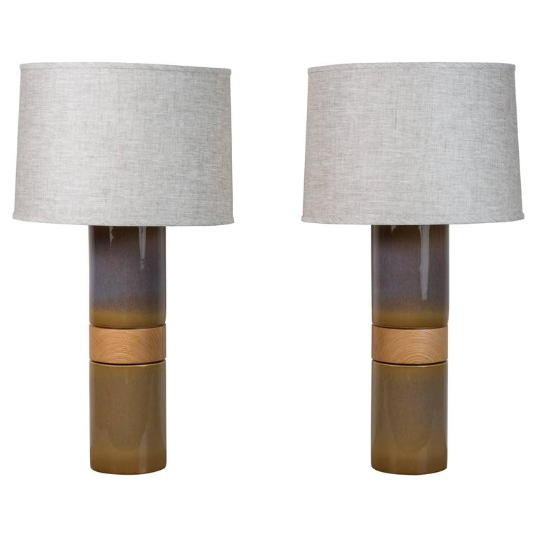 Pair of Holly Lamps by Stone and Sawyer for Lawson-Fenning