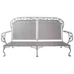 Dramatic Wrought Iron Sofa Attributed to Woodard