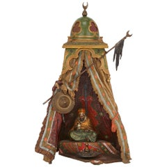 Viennese Cold Painted Bronze Orientalist Lamp by Bergman