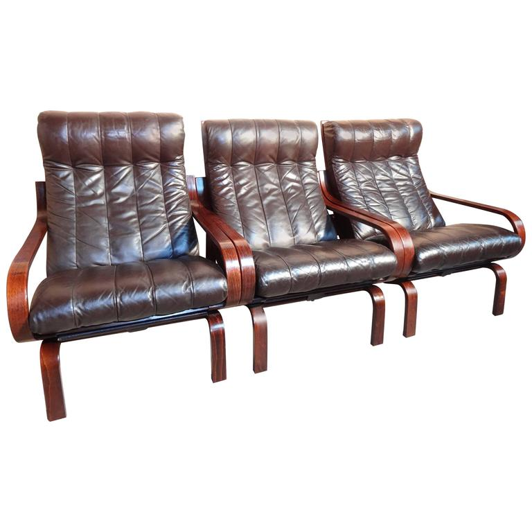 Sought After Ingmar Relling Orbit Chairs / Sofa By A/S Vestlandske  Møbelfabrikk For Sale