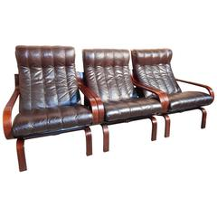 Sought after Ingmar Relling Orbit Chairs / Sofa  by A/S Vestlandske Møbelfabrikk
