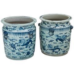 Monumental Chinese Ceramic Pots, 1970s
