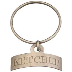 George III Silver Neck Ring Sauce Label 'Ketchup'
