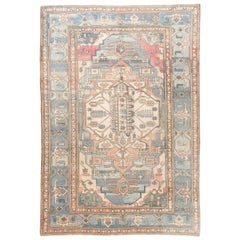Konya Rug in Fantastic Soft Blue, Peach, Cream Colors. 100% Wool, Natural Dyes