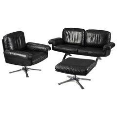 De Sede DS 31 Sofa, Swivel Lounge Armchair and Ottoman