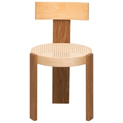 Rattan and Birch Chair by Markus Bergström
