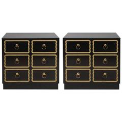 Pair of Chests or Nightstands in the Manner of Dorothy Draper