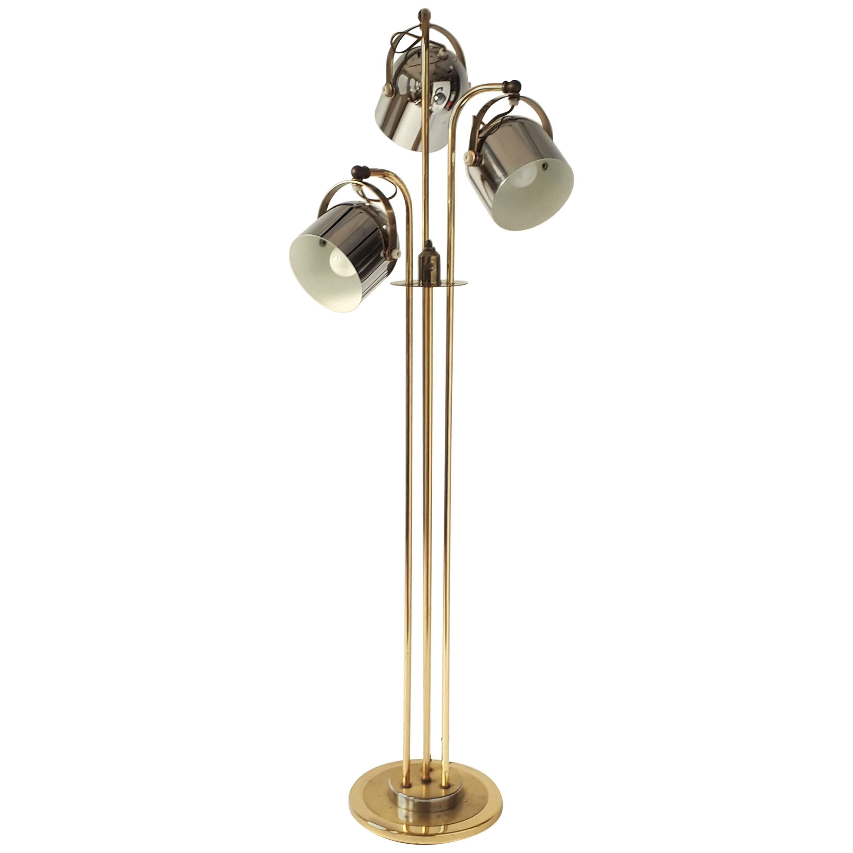 Three Heads Floor Lamp in the Style of Reggiani, 1960s, USA
