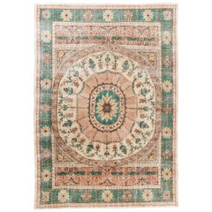 8.4x12 Ft Vintage Hand-Knotted European Rug. !00% Wool