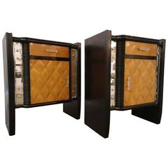 Pair of Italian Deco Nightstands or Side Tables, 1930 Attributed Paolo Buffa