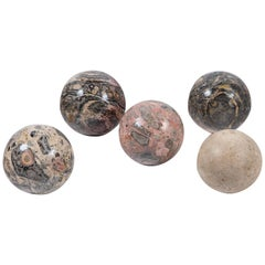 Set of Five Polished Marble Spheres, Italy, circa 1950s