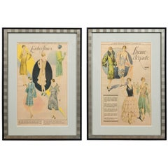 Pair of Vintage Fashion Advertisements, La Presse Montreal, 1928