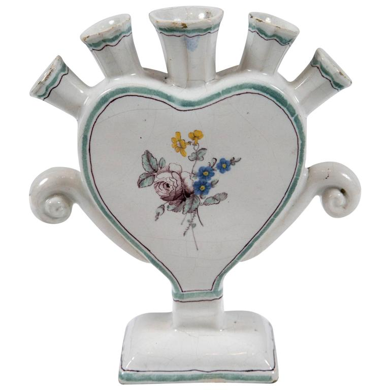 French Faience Tulipiere, Early 19th Century
