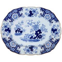 Chinoiserie Ironstone Platter, Ridgway & Morley, England, circa 1845