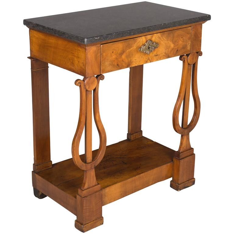 19th Century French Empire Marble-Top Console
