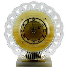 Bayard French Art Deco Clock, Late 1930