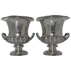 Antique Georgian Sterling Silver Pair of Wine Coolers Birmingham Matthew Boulton