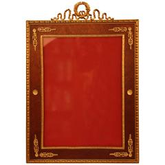 19th Century French Empire Bronze Picture Frame
