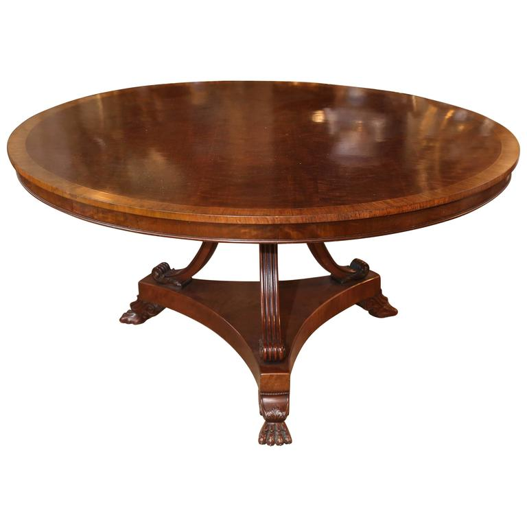 Regency Style Mahogany Dining Table or Center Table For Sale
