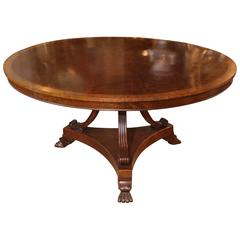 Regency Style Mahogany Dining Table or Center Table