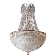 French Empire Style Crystal Chandelier, Large in Scale