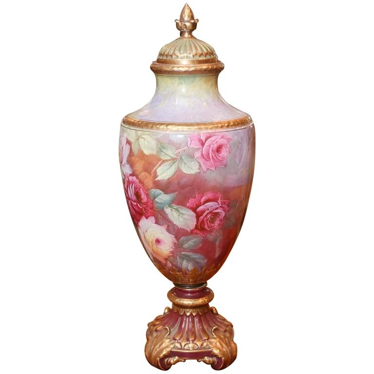 Large royal bonn urn for sale at 1stdibs - Large decorative vases and urns ...