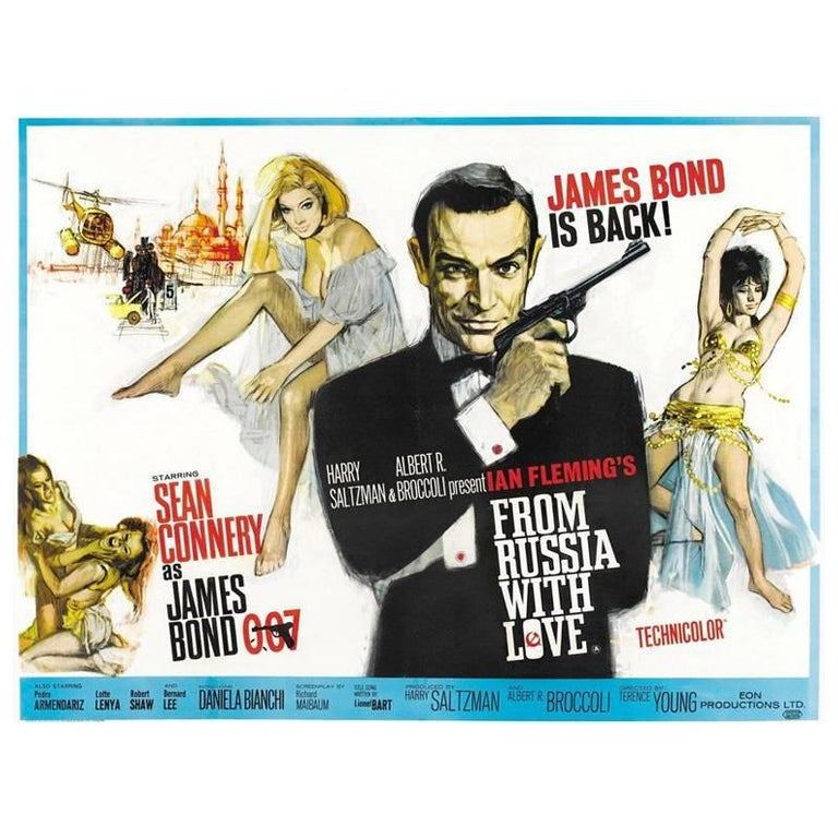 """""""From Russia With Love"""" Film Poster, 1963 For Sale"""