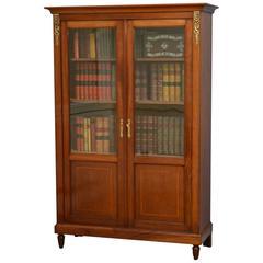 Victorian Period Mahogany Glazed Bookcase